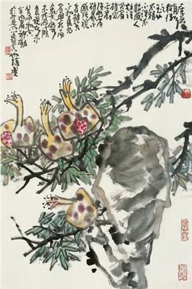 张浩作品 写意花鸟 (7)