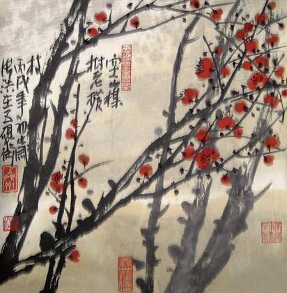 张浩作品 写意花鸟 (13)