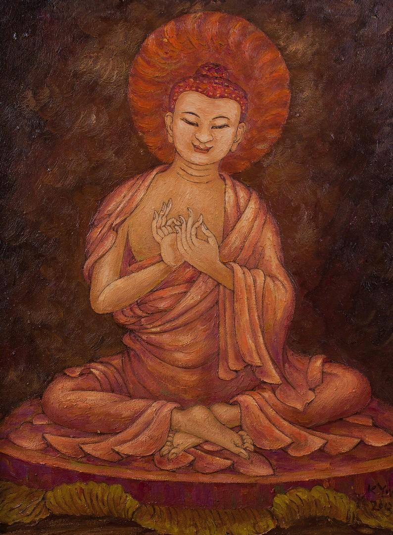 龙树菩萨—瓷板画