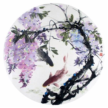 中国书画 国画 花鸟画 > 写意花鸟 团扇   编号:p53392 类别:花鸟画