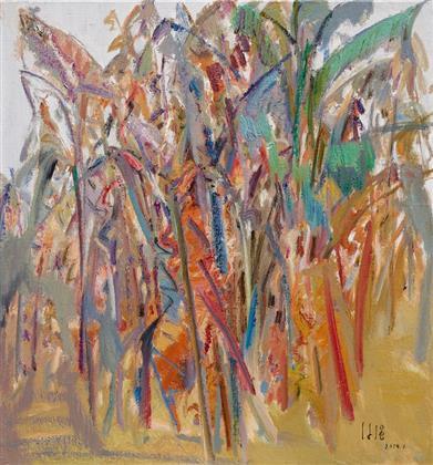 雕塑石雕 西画 油画风景 > 香蕉树   编号:p23119 类别:油画风景