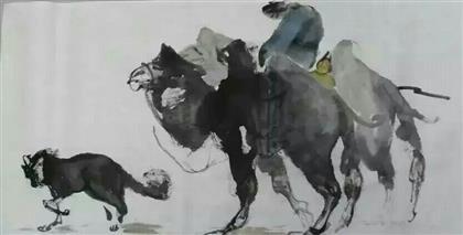 写意骏马骆驼
