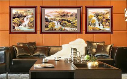 沙发背景墙壁画挂画新中式画漆画