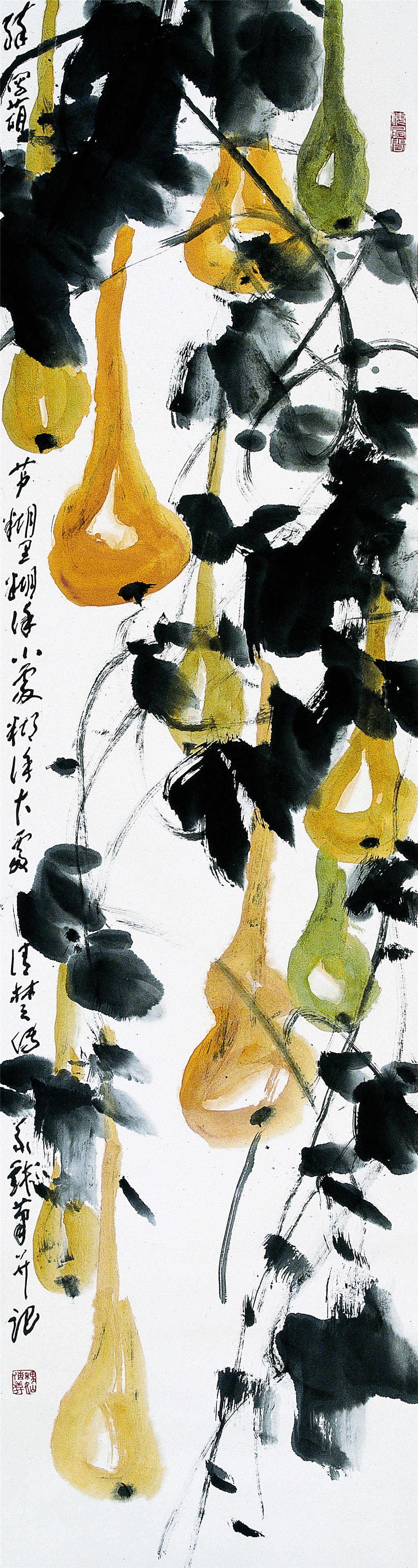中国书画 国画 水墨画 > 五条屏-葫芦   编号:p02538 类别:水墨画