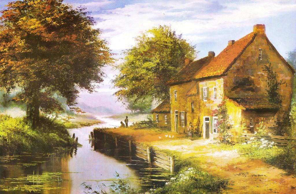 油画风景临摹步骤