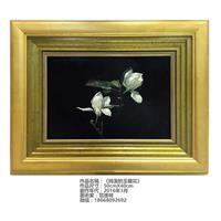 范增明油画作品《纯洁的玉兰花》