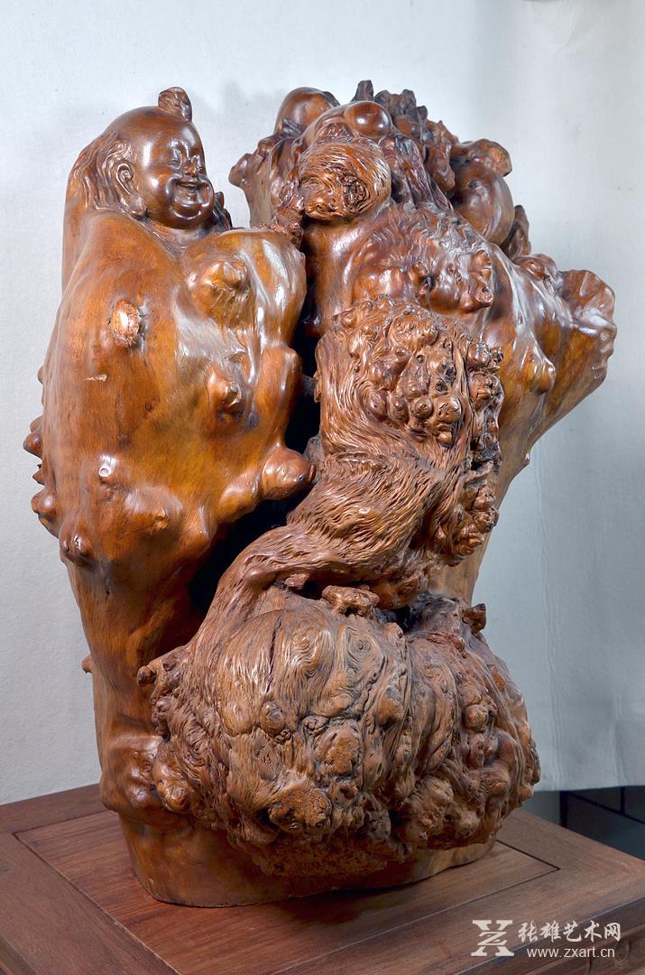 雕塑石雕 雕塑 木雕 > 寿星童子(桫椤木)