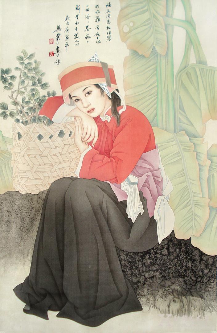 中国书画 国画 工笔画 > 芭蕉树下采药女   商品详细商品评价商品咨询